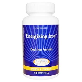 Enzymatic Therapy, 에너자이징 철분, 이중 철분 포뮬러, 90 소프트젤