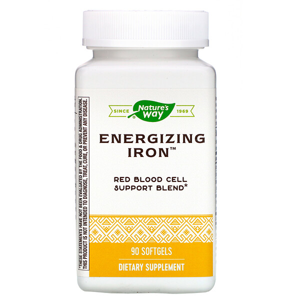 Nature's Way, Energizing Iron, 90 Softgels
