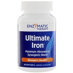 Enzymatic Therapy, ألتيمات أيرون، لصحة النساء، 90 كبسولة جيلاتينية رخوة