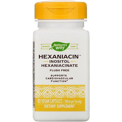 Фото - HexaNiacin, 590 mg, 60 Vegan Capsules grapefruit seed 250 mg 60 vegan capsules
