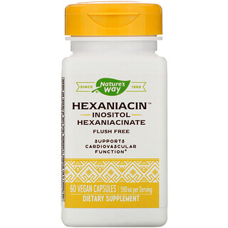 Nature's Way, HexaNiacin, 590 mg, 60 Vegan Capsules