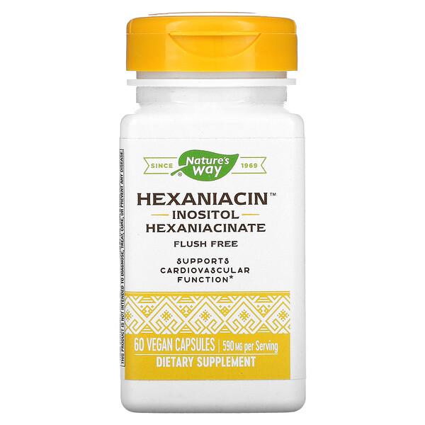 HexaNiacin, 590 mg, 60 Vegan Capsules