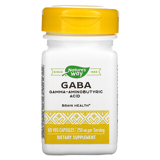 Enzymatic Therapy, GABA, 250 mg, 60 Veg Capsules