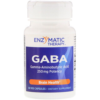 Enzymatic Therapy, GABA, 60 Veg Capsules