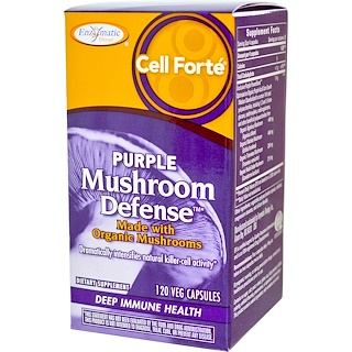 Enzymatic Therapy, Cell Forte, Purple Mushroom Defense, 120 Veggie Caps