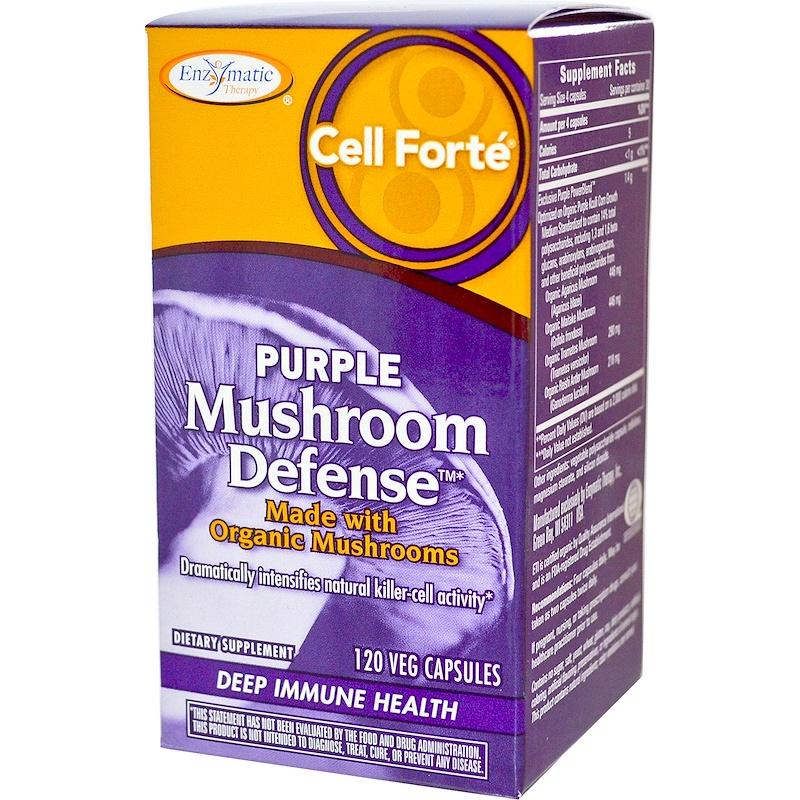 Cell Forté, Purple Mushroom Defense, 120 Veggie Caps