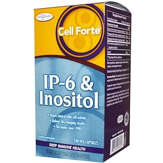 Enzymatic Therapy, Cell Forte, IP-6 & Inosit, Tiefe Immun Gesundheit, 240 vegetarische Kapseln