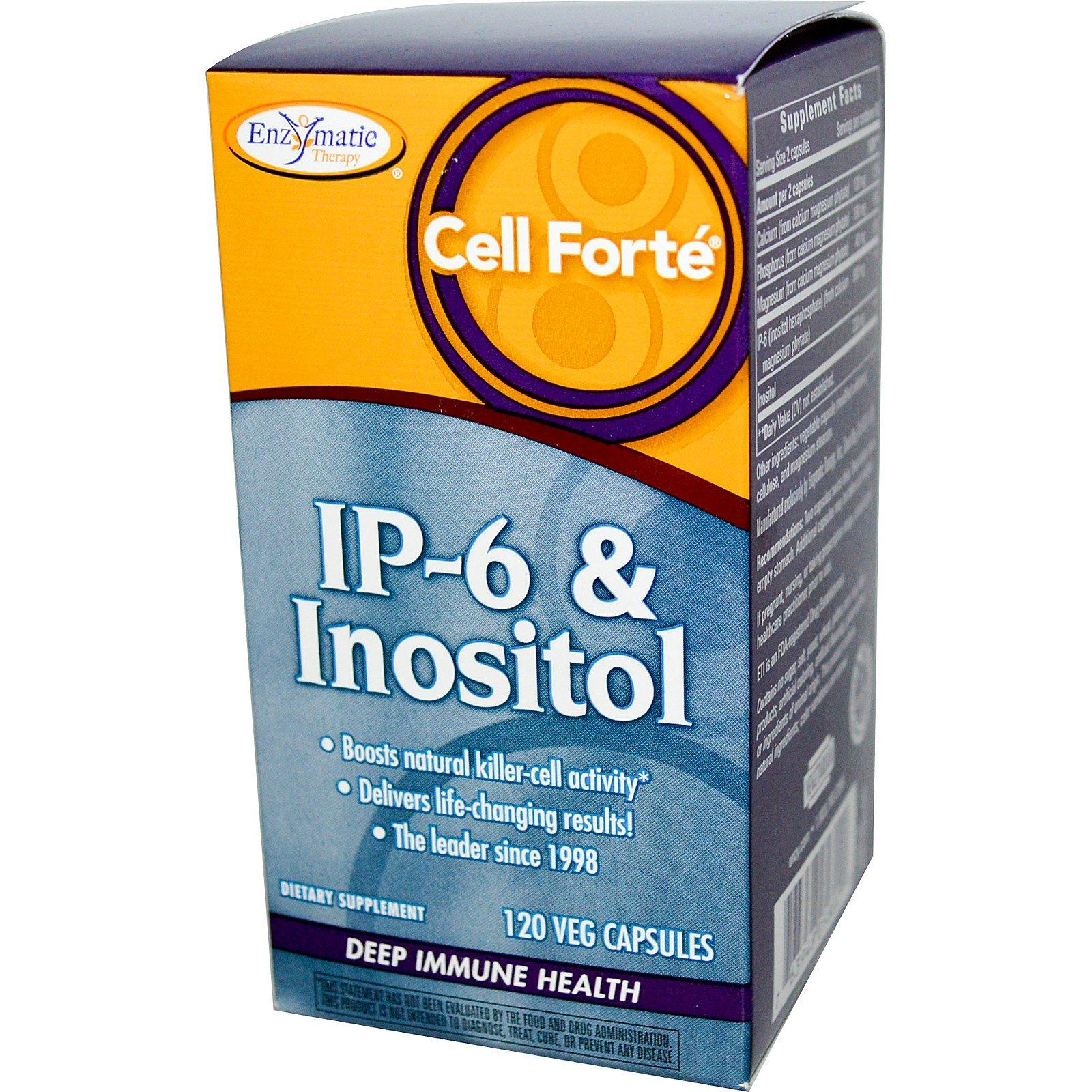 Enzymatic Therapy, Селл форте, IP-6 с инозитолом, 120 капсул на растительной основе