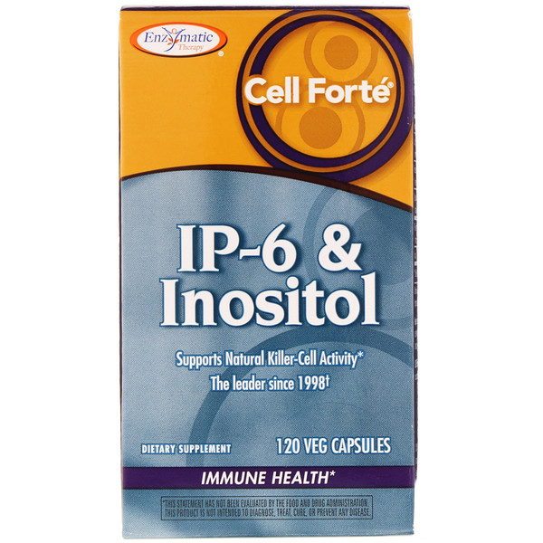 Enzymatic Therapy, Cell Forté, IP-6 & Inositol, 120 Veg Capsules