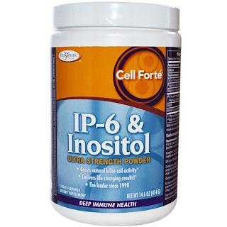 Enzymatic Therapy, Cell Forte, IP-6 & Inosit, Ultra Starkes Pulver, Zitronen Geschmack, 14.6 oz (414 g)
