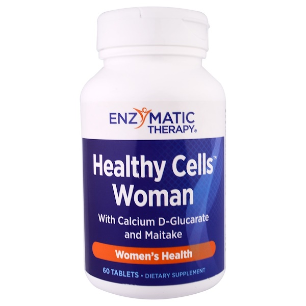 Enzymatic Therapy, Healthy Cells Woman with Calcium D-Glucarate and Maitake, 60 Tablets (Discontinued Item)