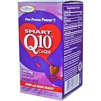 Умный Q10 CoQ10, шоколадный вкус, 100 мг, 30 жевательных таблеток - фото