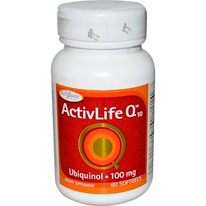 Enzymatic Therapy, ActivLife Коэнзим Q10, 100 мг, 60 капсул инструкция, применение, состав, противопоказания