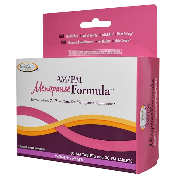 Enzymatic Therapy, AM/PM Menopause Formula, Women's Formula, 60 Tablets