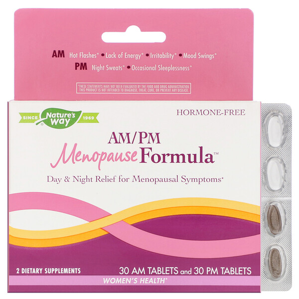 AM/PM Menopause Formula, Women's Health, 60 Tablets