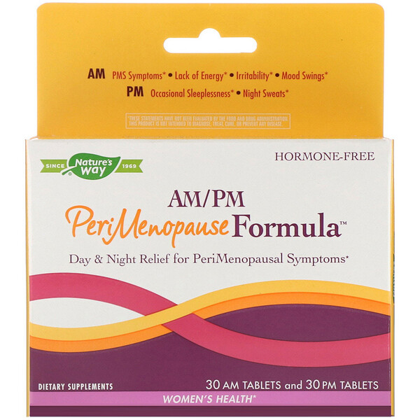 Enzymatic Therapy, PeriMenopause Formula, AM/PM, 60 Tablets