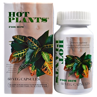 Enzymatic Therapy, Hot Plants, For Him, 60 Veggie Caps