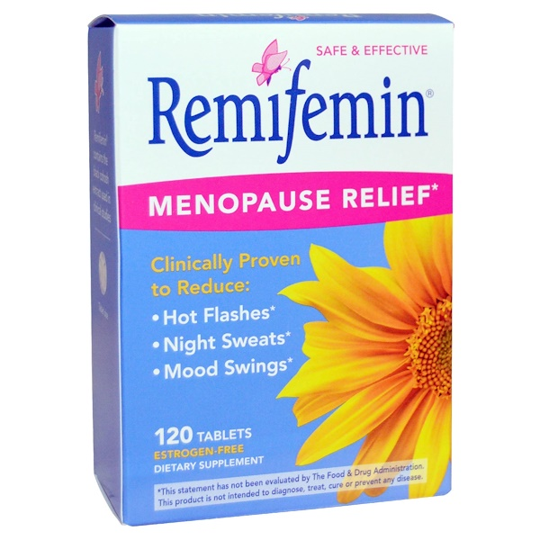 Enzymatic Therapy, Remifemin, Menopause Relief, 120 Tablets