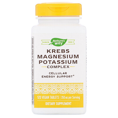 Купить Nature's Way комплекс Кребса с магнием и калием, 350мг, 120веганских таблеток