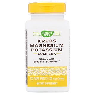 Nature's Way, Krebs Magnesium Potassium Complex, 350 mg, 120 Vegan Tablets