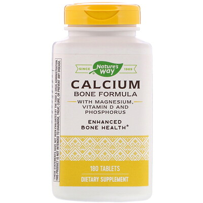 Calcium Bone Formula with Magnesium, Vitamin D and Phosphorus, 180 Tablets