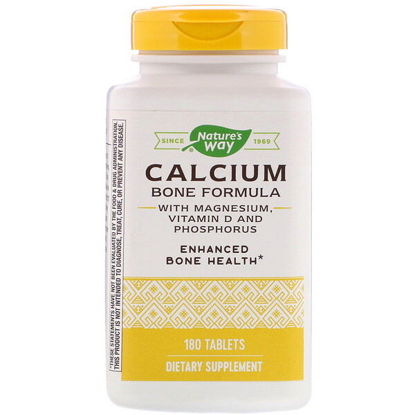 Nature's Way, Calcium Bone Formula with Magnesium, Vitamin D and Phosphorus, 180 Tablets