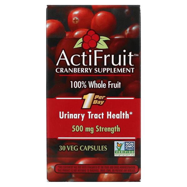 ActiFruit Cranberry Supplement, 30 Veg Capsule