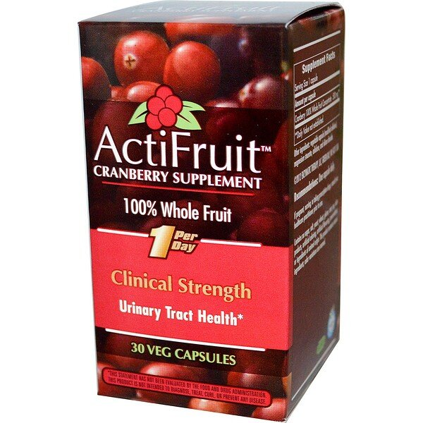 ActiFruit Cranberry Supplement, 30 Veg Capsule