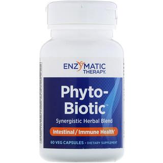 Enzymatic Therapy, Phyto-Biotic, 免疫, ベジタリアンカプセル60粒