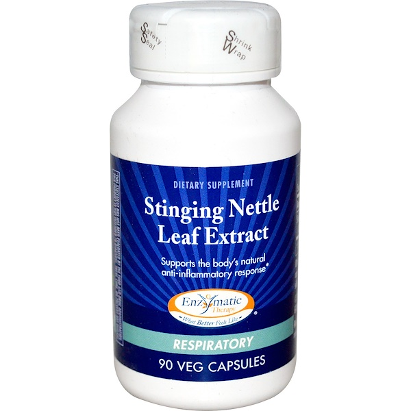 Enzymatic Therapy, Stinging Nettle Leaf Extract, Respiratory, 90 Veggie Caps (Discontinued Item)