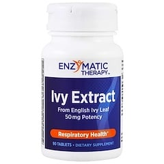 Enzymatic Therapy, Ivy Extract, Respiratory Health, 50 mg, 90 Tablets