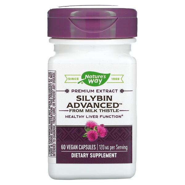 Silybin Advanced from Milk Thistle, 120 mg, 60 Vegan Capsules