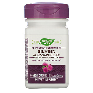 Натурес Вэй, Silybin Advanced from Milk Thistle, 120 mg, 60 Vegan Capsules отзывы покупателей