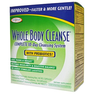 Enzymatic Therapy, Whole Body Cleanse, Complete 10-Day Cleansing System, 3 Part Program