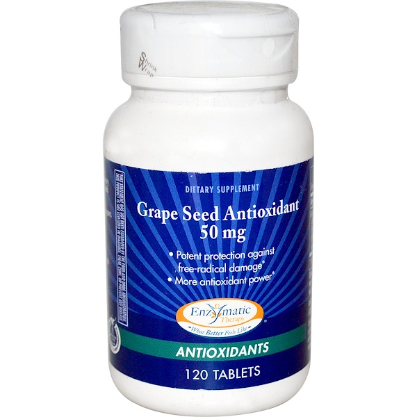 Enzymatic Therapy, Grape Seed Antioxidant, 50 mg, 120 Tablets (Discontinued Item)