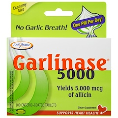 Enzymatic Therapy, Пищевая добавка Garlinase 5000, 100 таблеток с энтеросолюбильным покрытием