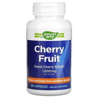Nature's Way, Cherry Fruit, экстракт черешни, 1000 мг, 180 капсул