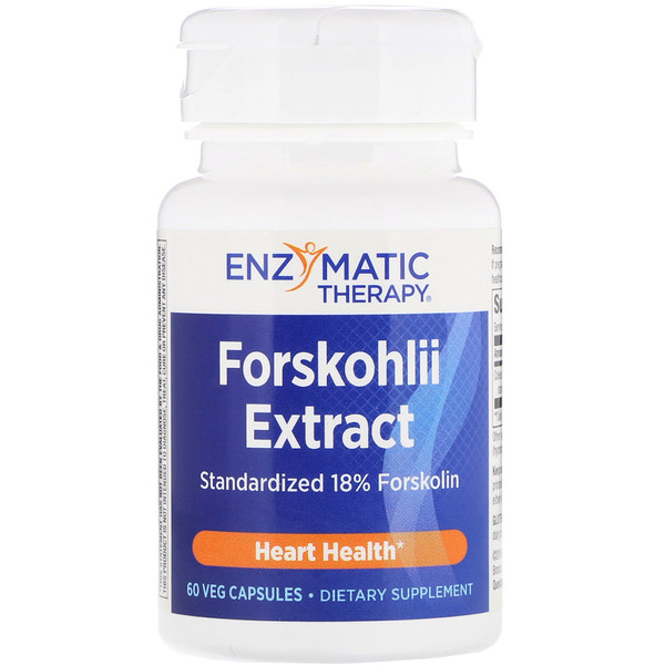 Enzymatic Therapy, Forskohlii Extract, 60 Veg Capsules (Discontinued Item)