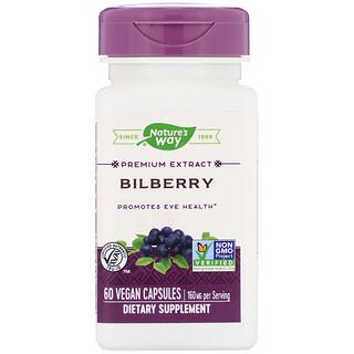 Nature's Way, Bilberry, 80 mg , 60 Vegan Capsules