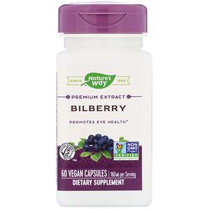 Натурес Вэй, Bilberry, 160 mg , 60 Vegan Capsules отзывы покупателей