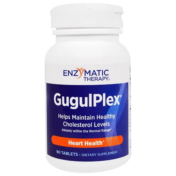 Enzymatic Therapy, GugulPlex, Heart Health, 90 Tablets (Discontinued Item)