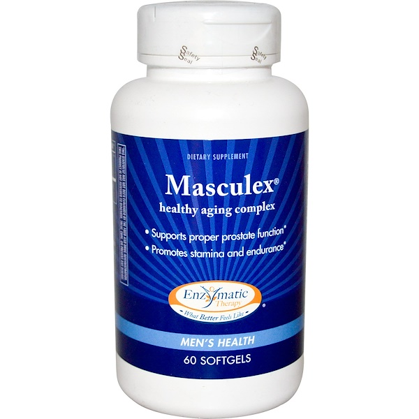 Enzymatic Therapy, Masculex, Men's Health, 60 Softgels (Discontinued Item)