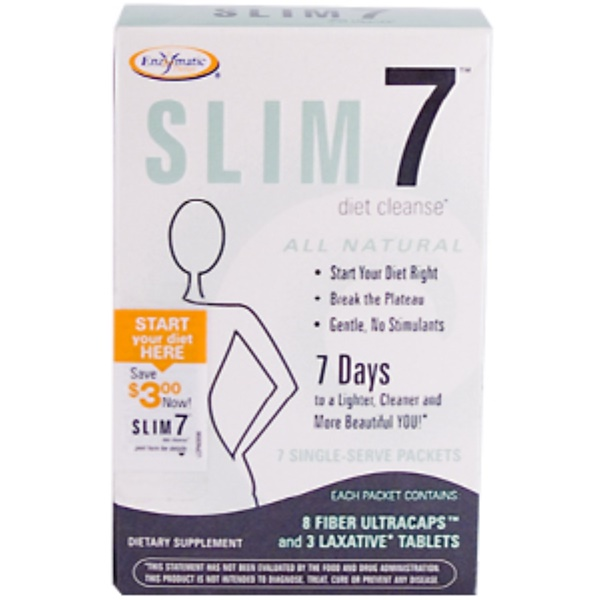 Enzymatic Therapy, Slim 7 Diet Cleanse, 7-Single Serve Packets (Discontinued Item)