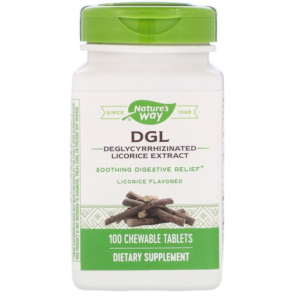DGL, Deglycyrrhizinated Licorice Extract, Licorice Flavored, 100 Chewable Tablets