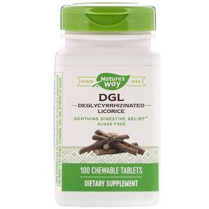Натурес Вэй, DGL, Deglycyrrhizinated Licorice, 100 Chewable Tablets отзывы покупателей