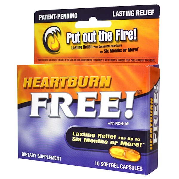 Enzymatic Therapy, Heartburn Free!, 10 Softgel Capsules
