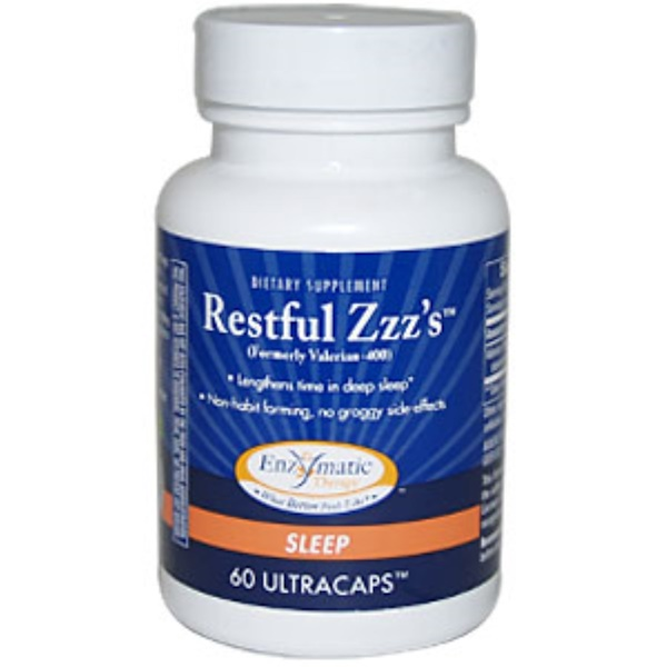 Enzymatic Therapy, Restful Zzz's, 60 UltraCaps (Discontinued Item)
