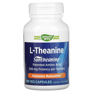 Enzymatic Therapy, L-Theanine, 180 Veg Capsules