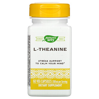Enzymatic Therapy, L-Theanine, 60 Veg Capsules