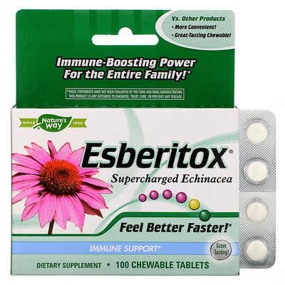 Esberitox, Supercharged Echinacea, 100 Chewable Tablets
